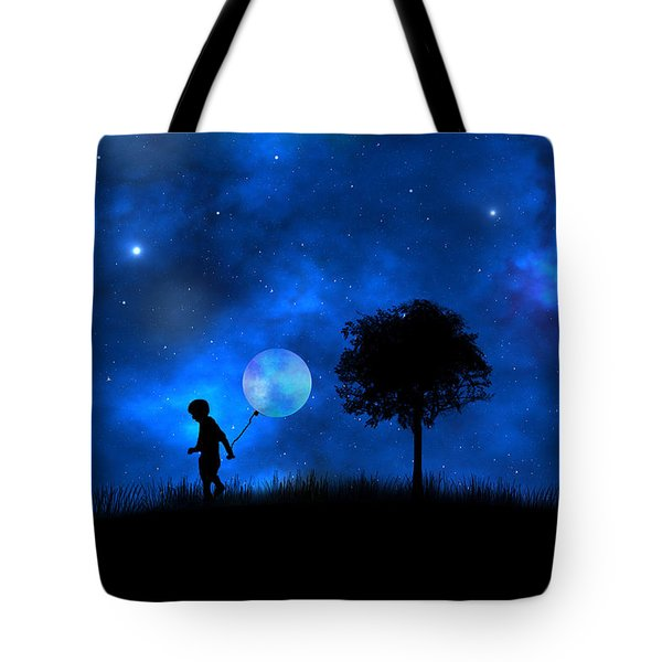 Moonlight Shadow Tote Bag by Bernd Hau