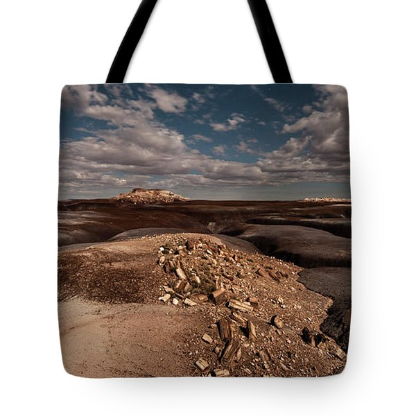 Tote Bag featuring the photograph Moonlit Badlands by Melany Sarafis