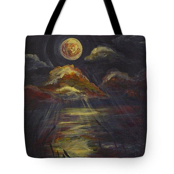 Moonlit Beach Guam Tote Bag