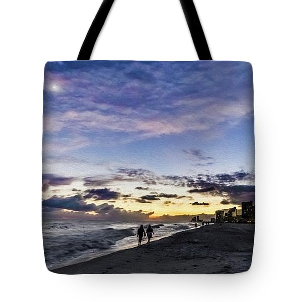 Moonlit Beach Sunset Seascape 0272b1 Tote Bag