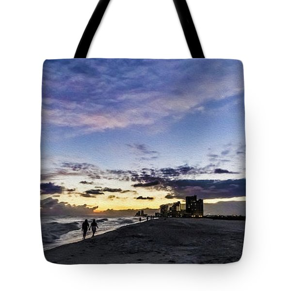 Moonlit Beach Sunset Seascape 0272c Tote Bag