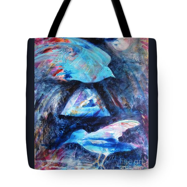 Moonlit Birds Tote Bag