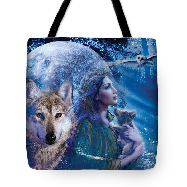 Moonlit Brethren Variant 1 Tote Bag by Andrew Farley