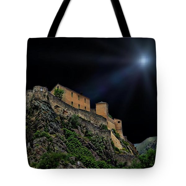 Moonlit Castle Tote Bag