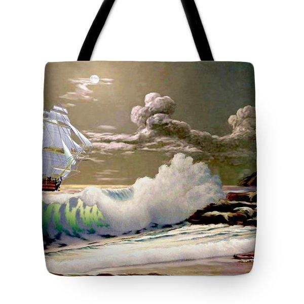 Moonlit Clipper Tote Bag
