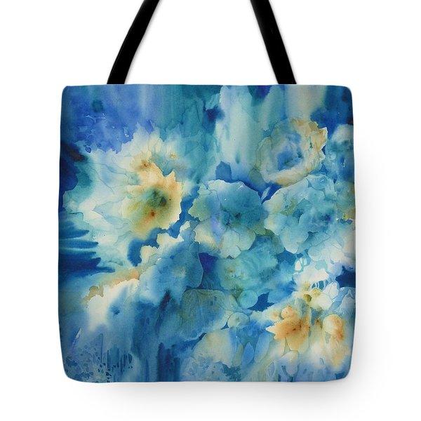 Moonlit Flowers Tote Bag