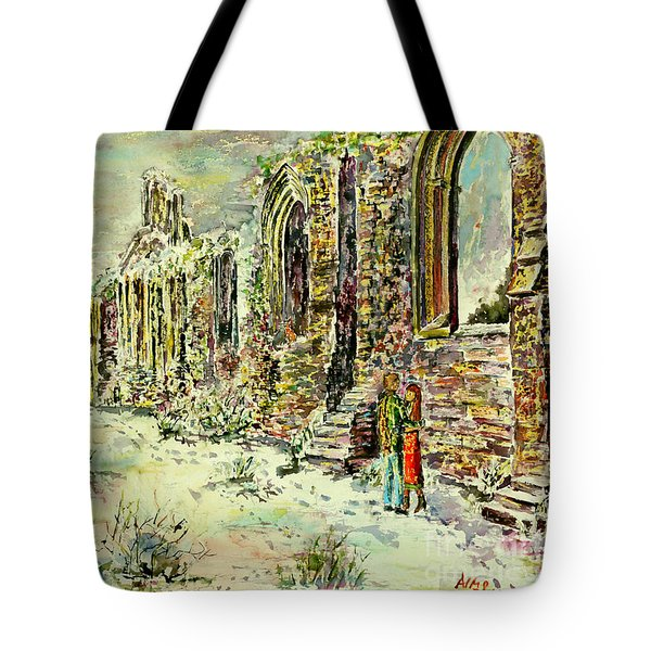 Moonlit Footsteps On Holy Ground Tote Bag
