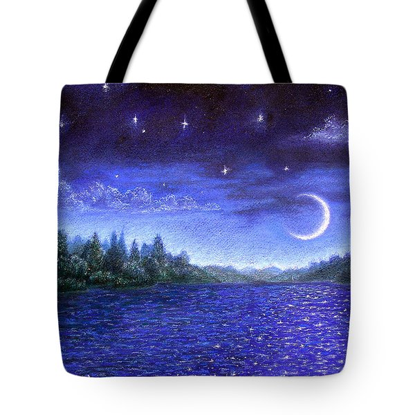 Moonlit Lake Tote Bag