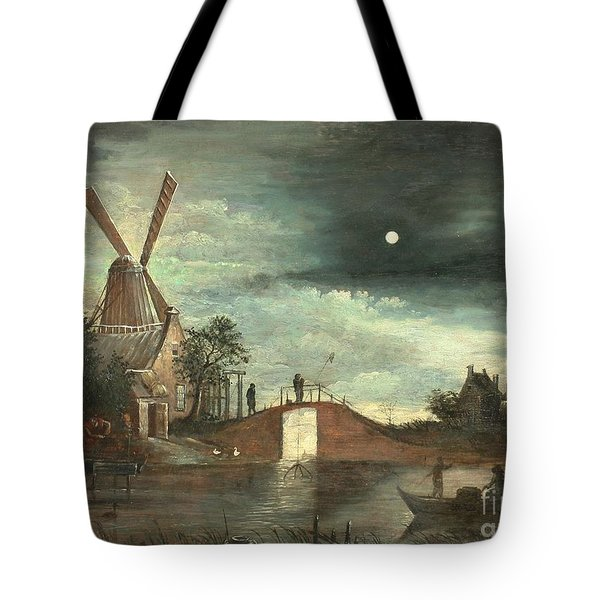 Moonlit Landscape Tote Bag