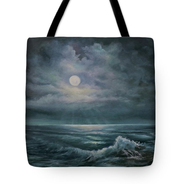 Moonlit Seascape Tote Bag