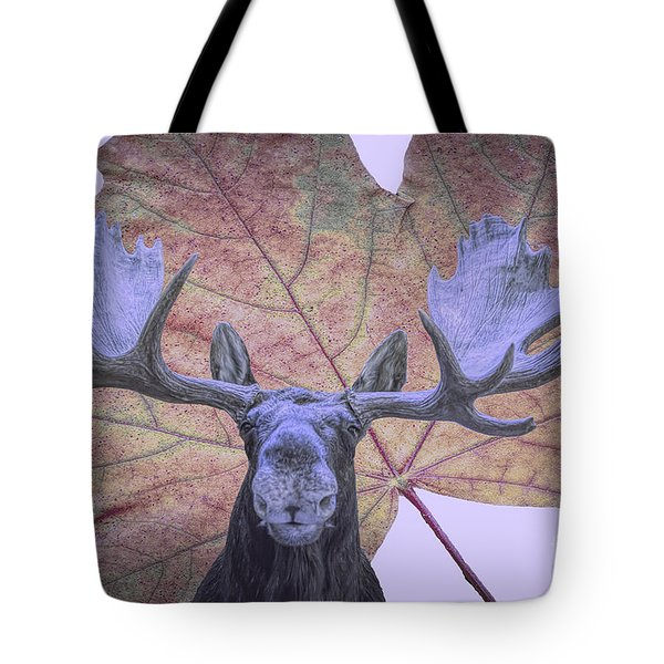 Tote Bag featuring the photograph Moonlit Moose by Ray Shiu