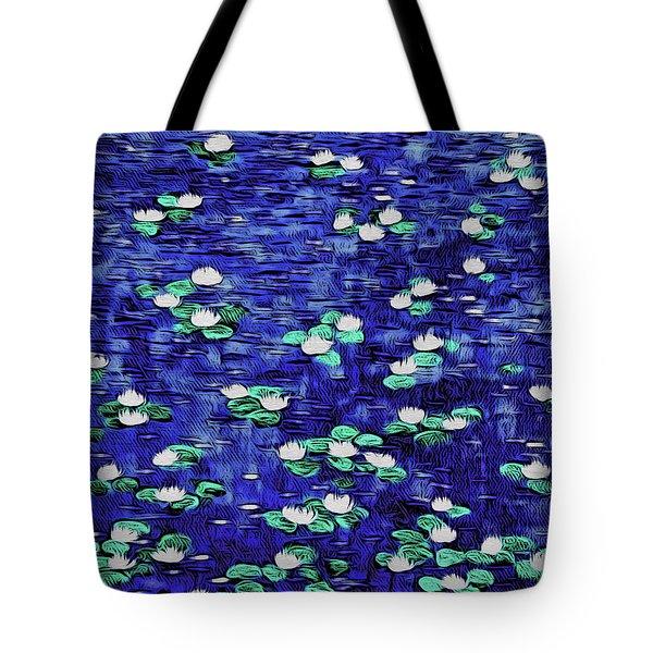 Moonlit Nymphaea Tote Bag