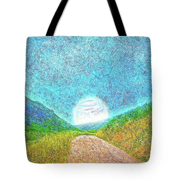Tote Bag featuring the digital art Moonlit Path - Marin California Trail by Joel Bruce Wallach