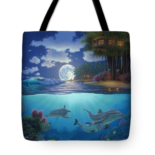 Moonlit Sanctuary Tote Bag by Al Hogue