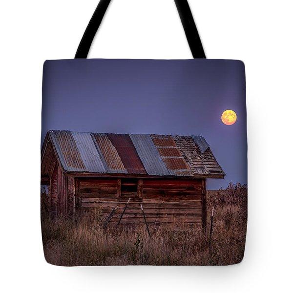 Moonlit Shed Tote Bag