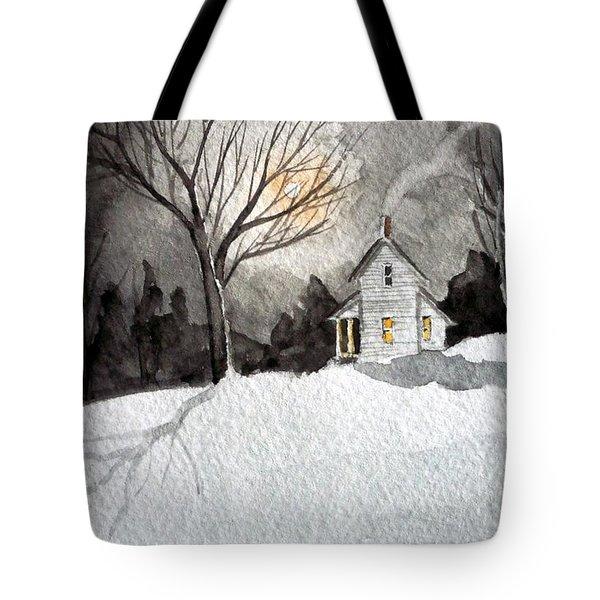 Moonlit Snow Tote Bag