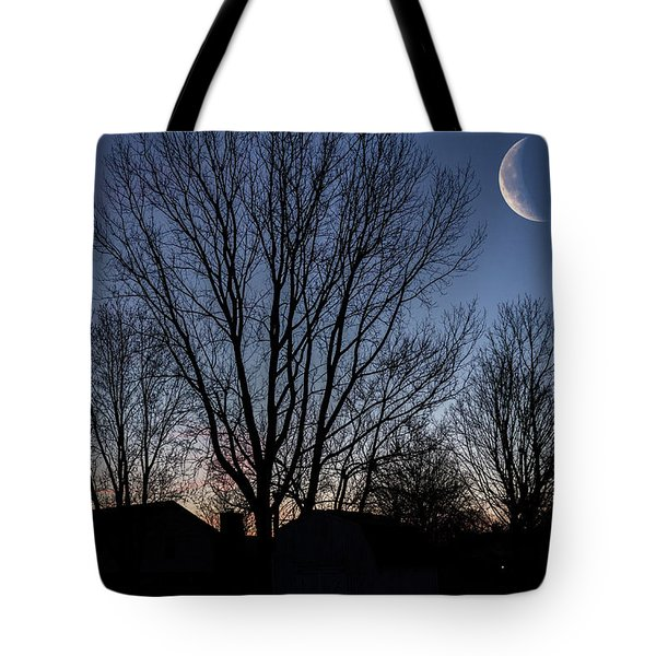 Moonlit Sunrise Tote Bag