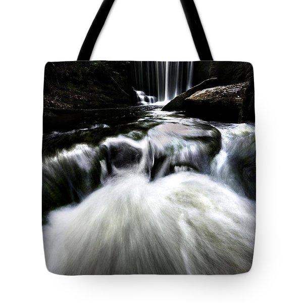 Moonlit Waterfall Tote Bag by Meirion Matthias