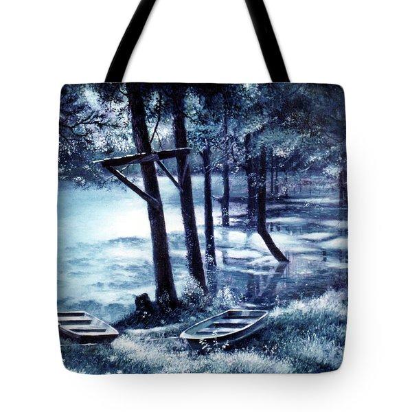 Moonlite On Village Creek Tote Bag