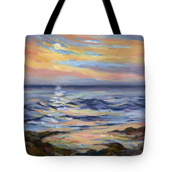 Moonrise At Cabrillo Beach Tote Bag