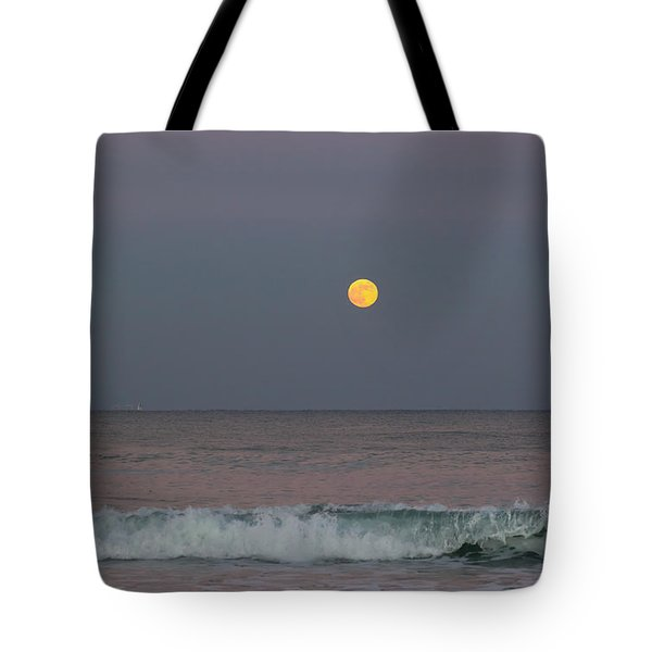 Tote Bag featuring the photograph Moonrise At Sunset by Michelle Wiarda