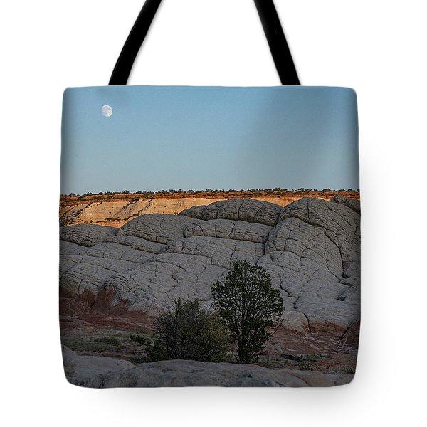 Moonrise At Sunset Tote Bag