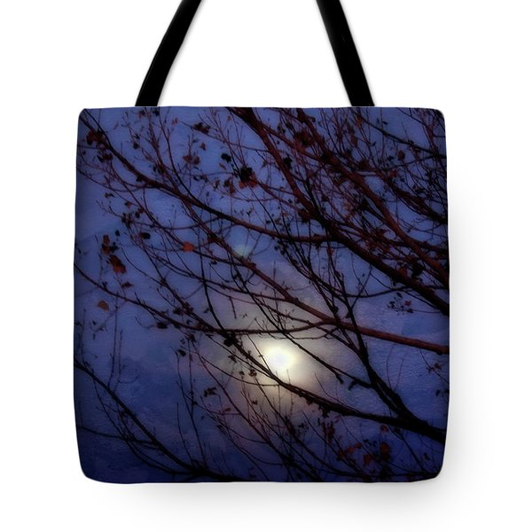 Tote Bag featuring the photograph Moonrise by Ellen Heaverlo