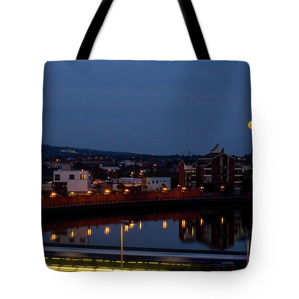 Moonrise In Belfast Tote Bag