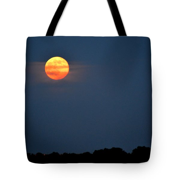 Moonrise June 2-2015  Tote Bag by Lyle Crump