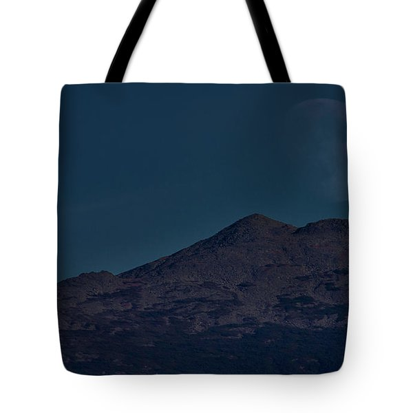 Moonrise Mount Adams Tote Bag