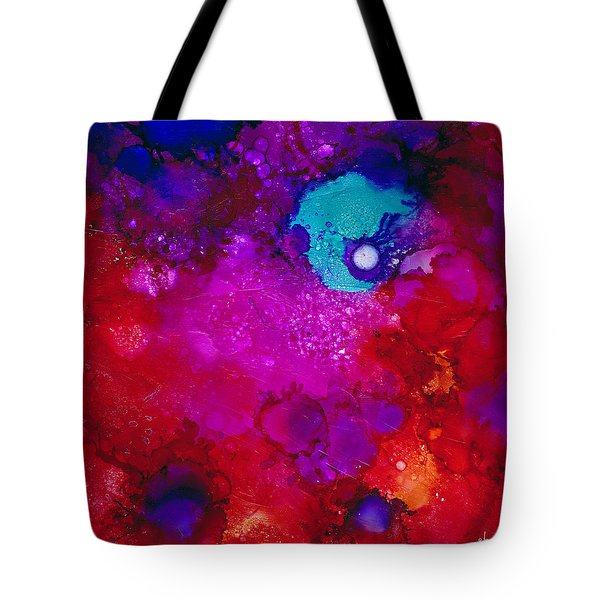 Tote Bag featuring the painting Moonrise Over Mars by Angela Treat Lyon