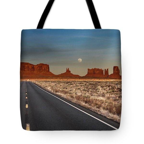 Moonrise Over Monument Valley Tote Bag