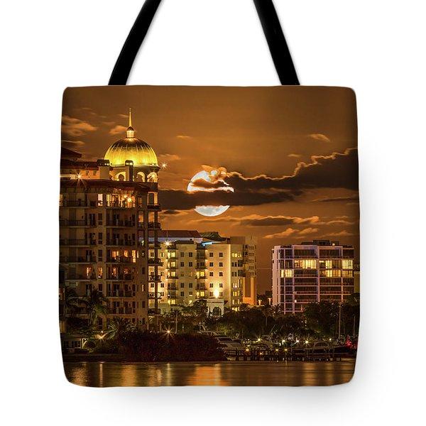 Moonrise Over Sarasota Tote Bag