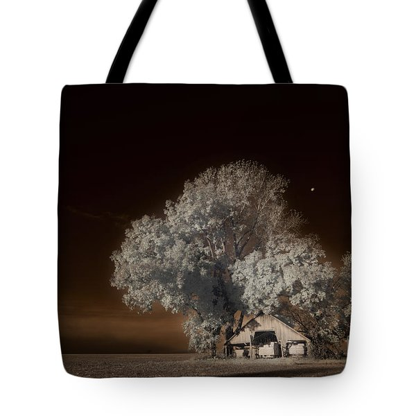 Moonrise Over The Bottoms, October Tote Bag