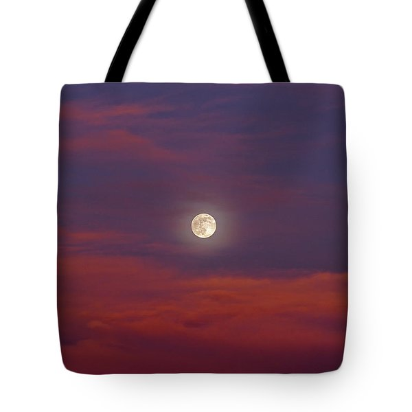 Tote Bag featuring the photograph Moonrise, Sunset by Jason Coward