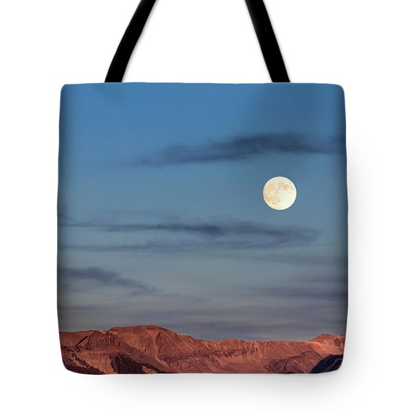 Moonrise With Afterglow Tote Bag