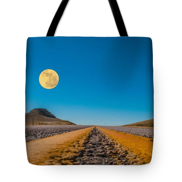 Moonrise Wyoming Tote Bag