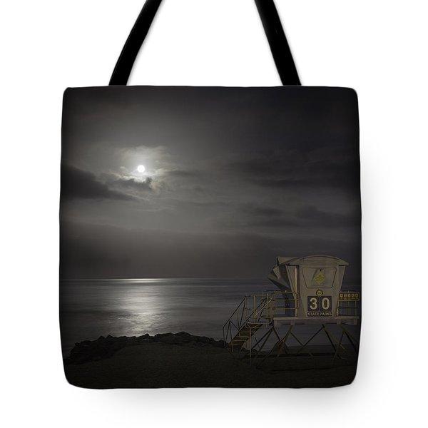 Moonset At Carlsbad Tote Bag