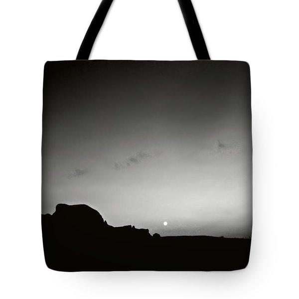 Moonset Big Bend Tote Bag