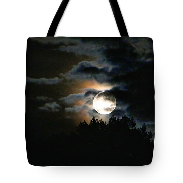 Moonset In The Clouds 2 Tote Bag