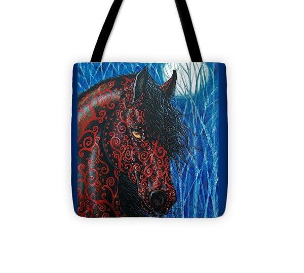 Moonsfyre Stallion Of Nyteworld Tote Bag by Beth Clark-McDonal