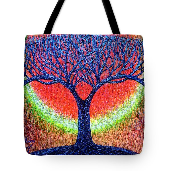 Tote Bag featuring the painting moonshine-2/God-is light/ by Viktor Lazarev