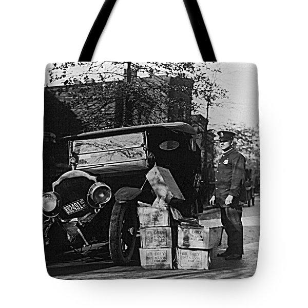 Moonshine Car Chase Tote Bag