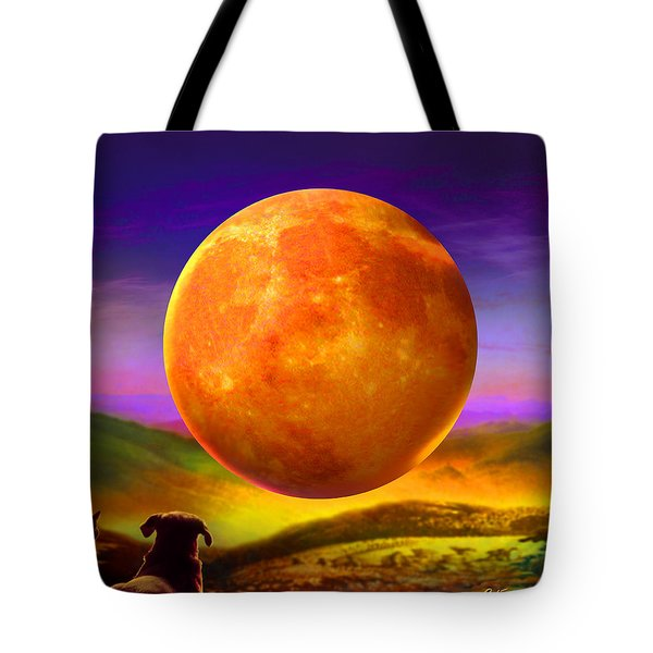 Tote Bag featuring the painting Moonshine Forever by Robin Moline