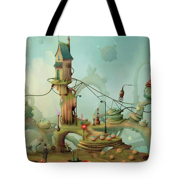 Moonshine Manor The Finest Distillery West Of The Sun Tote Bag