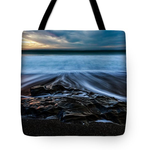 Tote Bag featuring the photograph Moonstone Beach In The New Year by Jason Roberts