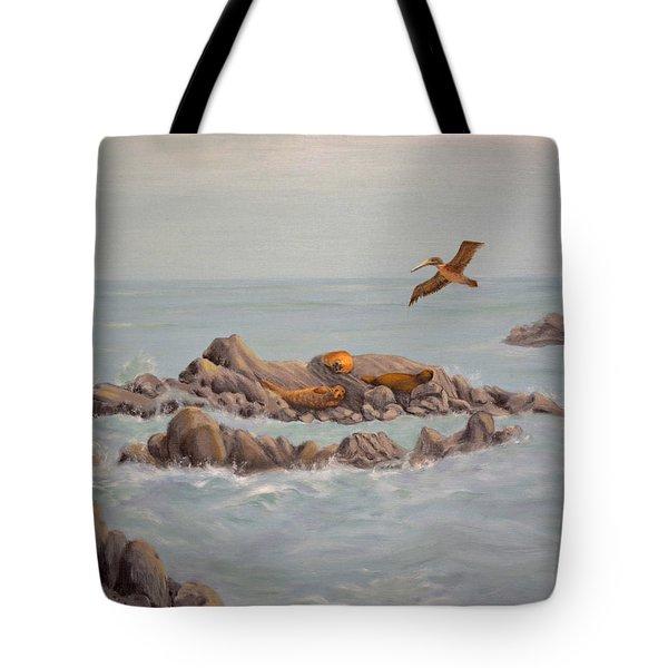 Moonstone Beach Tidepool Tote Bag