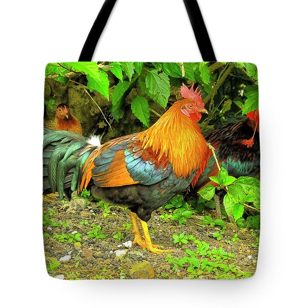 Tote Bag featuring the photograph Moorea Chicken by Bill Barber
