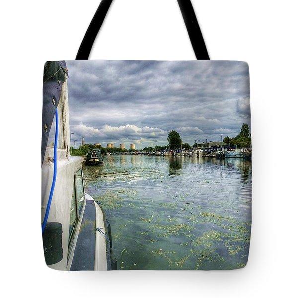 Moored At The Marina Tote Bag