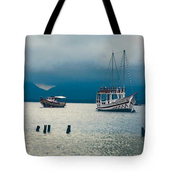 Tote Bag featuring the photograph Moored Boats by Kim Wilson